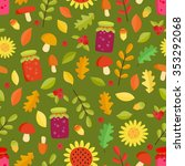 vector seamless pattern... | Shutterstock .eps vector #353292068