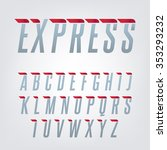 express speed english alphabet. ... | Shutterstock .eps vector #353293232