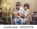 cute babies boy and girl in a...   Shutterstock . vector #353297978