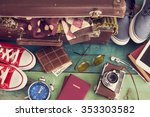 holiday suitcase | Shutterstock . vector #353303582