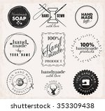 vintage tailor  hand sewn and... | Shutterstock .eps vector #353309438
