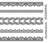set of seamless borders for... | Shutterstock .eps vector #353309945