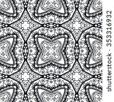 black and white geometric... | Shutterstock .eps vector #353316932