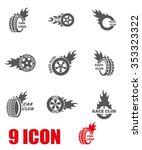 vector black racing labels icon ...   Shutterstock .eps vector #353323322