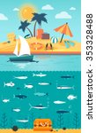 cruise. infographics of the... | Shutterstock .eps vector #353328488