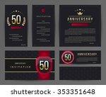 50th anniversary invitation... | Shutterstock .eps vector #353351648