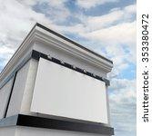 billboard on a building | Shutterstock . vector #353380472