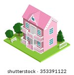 3d realistic detailed isometric ... | Shutterstock .eps vector #353391122
