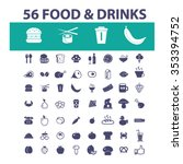 food  drinks  grocery  icons ... | Shutterstock .eps vector #353394752