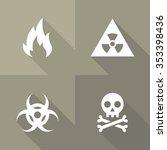 vector flat icons   danger