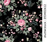 seamless floral pattern with... | Shutterstock .eps vector #353402612