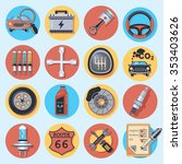 car parts and service   Shutterstock .eps vector #353403626