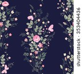 seamless floral pattern with... | Shutterstock .eps vector #353404436