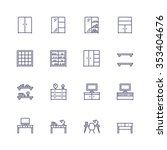 interior and furniture icons | Shutterstock .eps vector #353404676