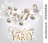 christmas party invitation with ... | Shutterstock .eps vector #353406848