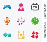 entertainment icons. game ... | Shutterstock . vector #353426642