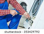 washing machine repair.... | Shutterstock . vector #353429792