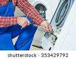 washing machine repair.... | Shutterstock . vector #353429792
