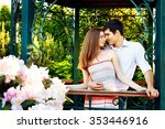 lovers young man and woman... | Shutterstock . vector #353446916