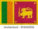 sri lanka national flag country ...   Shutterstock . vector #353465036
