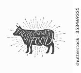 cow. farm animal icon  butchery ... | Shutterstock .eps vector #353469335