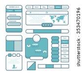 vector flat website elements set