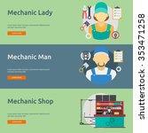 mechanic and car repair | Shutterstock .eps vector #353471258