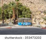 Small photo of PALM SPRINGS, CA - NOV 2015: Palm Springs Aerial Tramway Cabin on November 15, 2015 at Valley Station, one of the cabins used to transport visitors to the Mountain Station at an elevation 8,516 feet