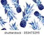 beautiful seamless vector... | Shutterstock .eps vector #353473295
