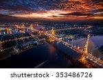 bangkok city   beautiful sunset ... | Shutterstock . vector #353486726