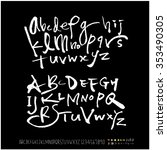 hand drawn alphabet   number... | Shutterstock .eps vector #353490305