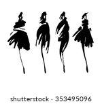 fashion models sketch hand