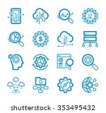 thin lines icons set of big... | Shutterstock .eps vector #353495432
