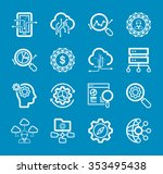 thin lines icons set of big... | Shutterstock .eps vector #353495438