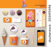 vector ice cream corporate... | Shutterstock .eps vector #353495498