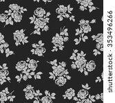 rose flower pattern  | Shutterstock .eps vector #353496266