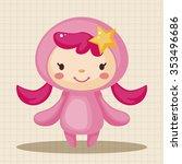 constellation virgo theme... | Shutterstock .eps vector #353496686