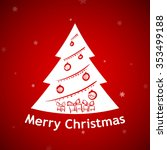 christmas background. tree with ... | Shutterstock . vector #353499188