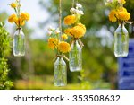 The Marigold Flowers In A Glas...