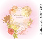 greeting card  vintage style | Shutterstock .eps vector #353517356