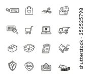 shopping icons set. line style... | Shutterstock .eps vector #353525798