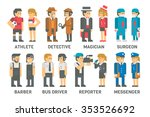 flat design people with... | Shutterstock .eps vector #353526692