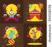circus tent  clown  elephant ... | Shutterstock .eps vector #353528258