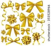 gold bow set | Shutterstock .eps vector #353528966