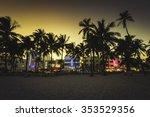 ocean drive street with...   Shutterstock . vector #353529356