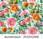 raster seamless pattern with... | Shutterstock . vector #353532308