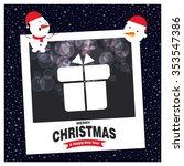 merry christmas celebration... | Shutterstock .eps vector #353547386