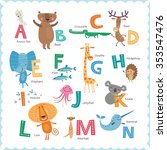 cute vector zoo alphabet with... | Shutterstock .eps vector #353547476