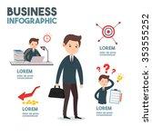 businessman failure his job... | Shutterstock .eps vector #353555252