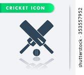 cricket icon  crossed cricket... | Shutterstock .eps vector #353557952